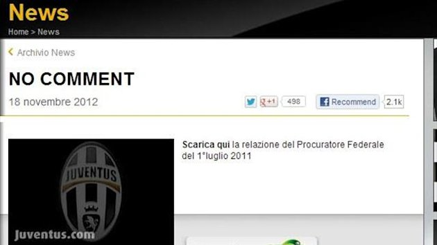 Juventus website