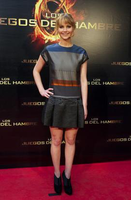 3. Jennifer Lawrence's Color-Blocking & Booties