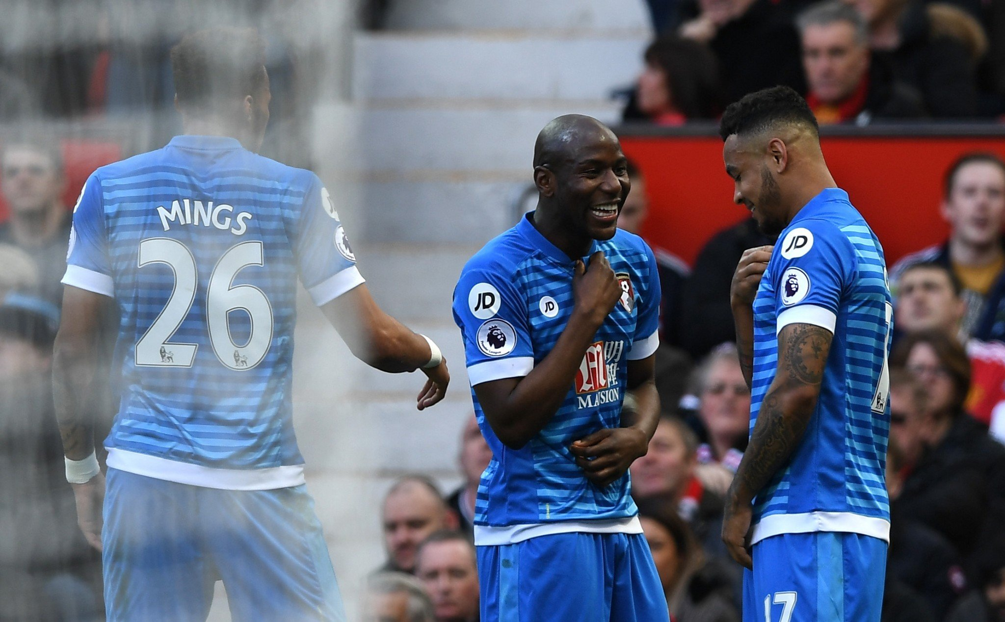 Bournemouth celebrate their equaliser