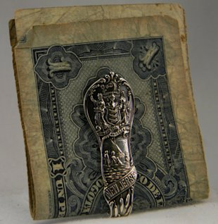 Silver Spoon Money Clip