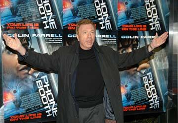 Larry Cohen at the New York premiere of 20th Century Fox's Phone Booth