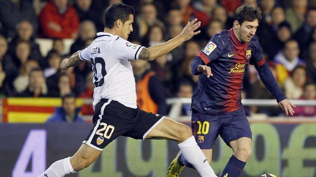 Spanish Liga - Valencia hold Barcelona despite Messi goal