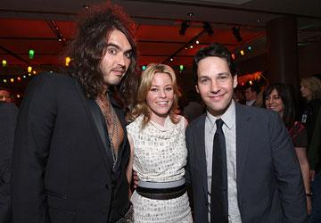 Russell Brand , Elizabeth Banks and Paul Rudd at the Los Angeles premiere of Universal Pictures' Forgetting Sarah Marshall
