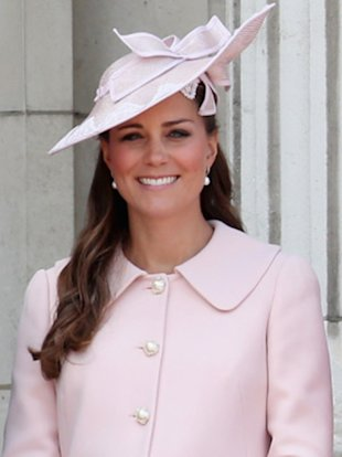 Kate Middleton at one of her last outings before the birth.