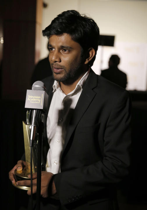 "Shubhashish Bhutiani of School of Visual Arts participates in the interview with the Directing Award for ""Kush"" at the 35th College Television Awards, presented by the Television Academy Fou"