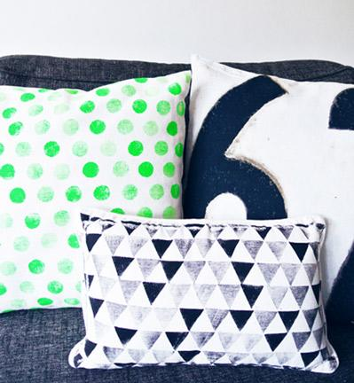 Neon Polka-dot Pillows