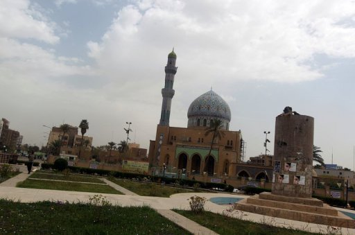 A view of Firdous square in the capital Baghdad on April 9. Syria's new ambassador to Iraq has taken up his post in Baghdad, five months after his predecessor defected and joined the country's anti-regime revolt, the president's office said on Thursday
