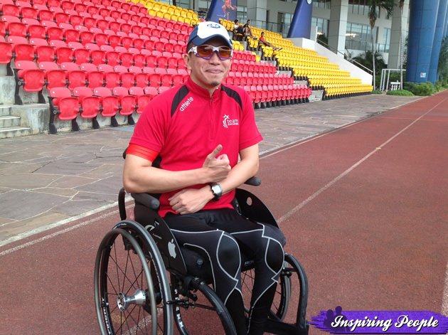 Meet Foo Fung Liang, the president and co-founder of the Handcycling Association of Singapore. (Yahoo! photo)