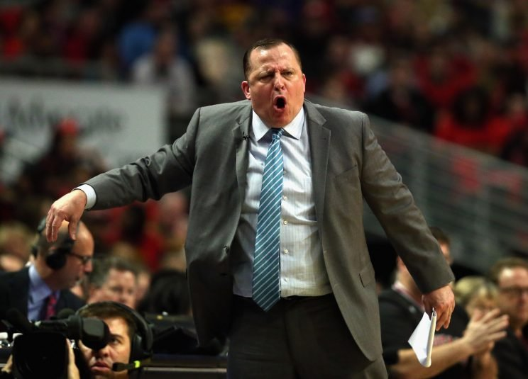 Tom Thibodeau is pleased as punch to be back on the sidelines. (Getty Images)