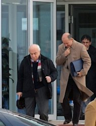 Former Turkish colonel Cetin Dogan (left) leaving the Silivri courthouse in January 2011. A Turkish court will hand down the verdict in the trial of hundreds of military officers accused of plotting to overthrow the Islamic-rooted government, the first ruling from several cases targeting the army.