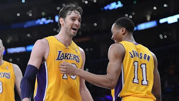 Paul Gasol - Wesley Johnson - Los Angeles Lakers