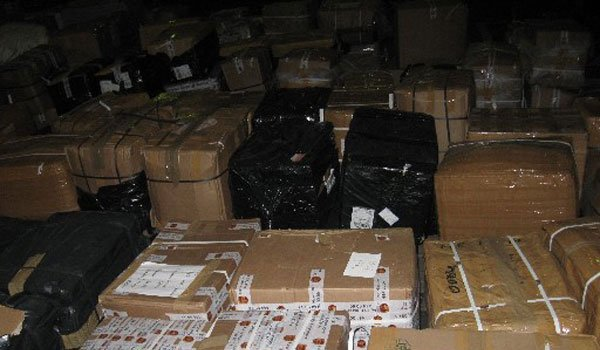 Designer Clothing Haul Seized boxes at Standard