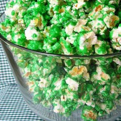 Green Candied Popcorn