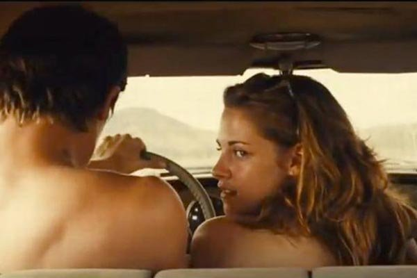 Kristen Stewart's Scandalous Topless Threesome 'On The Road' Scene Is Online