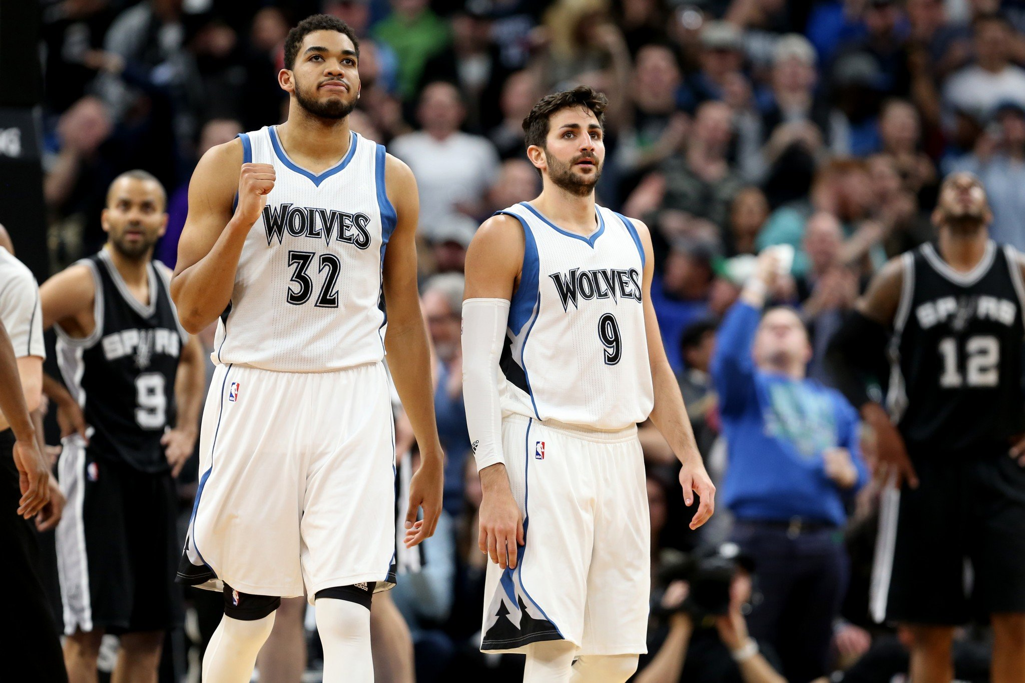 Karl-Anthony Towns and Ricky Rubio have helped lead the Timberwolves' second-half surge. (Getty Images)