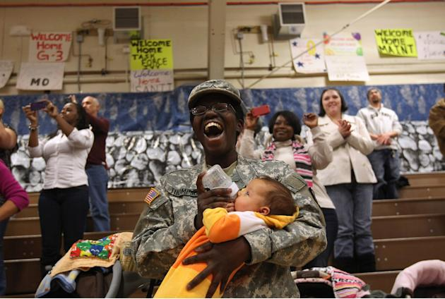 Soldiers Return To Fort Carson After Seven-Month Deployment In Iraq