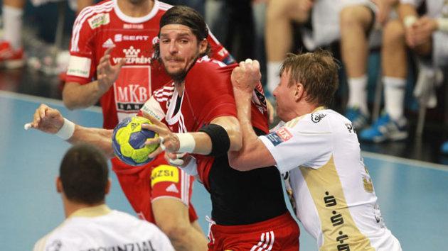 Champions League: Laszlo Nagy (MKB Veszprem) & Filip Jicha (THW Kiel)