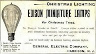 Marketing Savvy from Menlo Park:  The First Christmas Lights image edison christmas lights first advertisement 1 2
