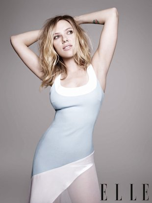 Scarlett Johansson was shot by Rankin for February's issue of ELLE UK