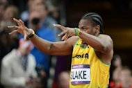 Jamaica's Yohan Blake gestures prior to his men's 100m final at the London Olympics on August 5. He was unable to usurp training partner and compatriot Usain Bolt in an electrifying men's Olympic 100m, but vowed to roar again, possibly in three more events
