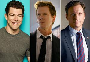 Max Greenfield, Kevin Bacon, Tony Goldwyn  | Photo Credits: Autumn Dewilde/FOX; FOX; ABC