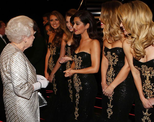 The Queen and Girls Aloud
