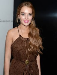 Lindsay Lohan attends Lady Gaga 'Fame' Eau de Parfum Launch Event at Guggenheim Museum in New York City on September 13, 2012 -- Getty Premium