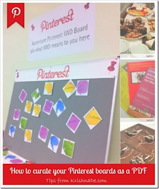 How to Turn Your Pinterest Boards into a PDF or JPEG Image So You Can Refer to Them Off Line image How to curate your Pinterest boards as a PDF
