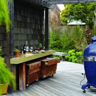Create an outdoor bar