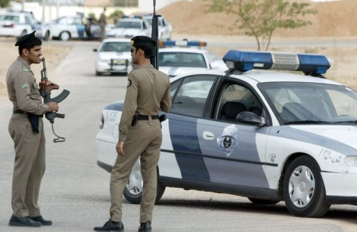 Saudi security personnel patrol near Riyadh, 2006. Saudi authorities beheaded two nationals for murder, including one who stabbed his wife to death and burned her corpse
