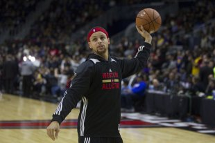 Stephen Curry is ready to get back to the business of basketball. (AP)