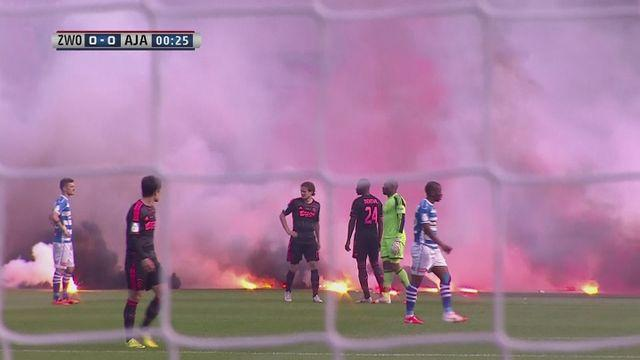 Dutch Cup final: Fireworks delay shock Zwolle win
