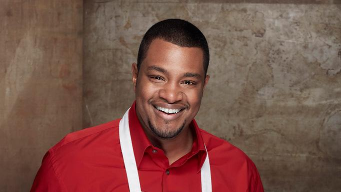 "Faruq Jenkins, a bartender from Glendale, CA, is one of the top 14 finalists on ""MasterChef."""