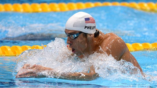 Phelps entered in 3 events at return meet