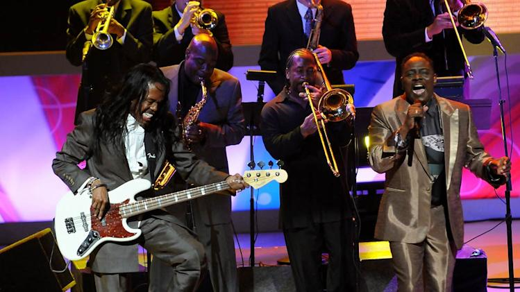 Earth, Wind and Fire perform at the 7th Annual TV Land Awards held at the Gibson Amphitheatre on April 19, 2009 in Universal City, California.