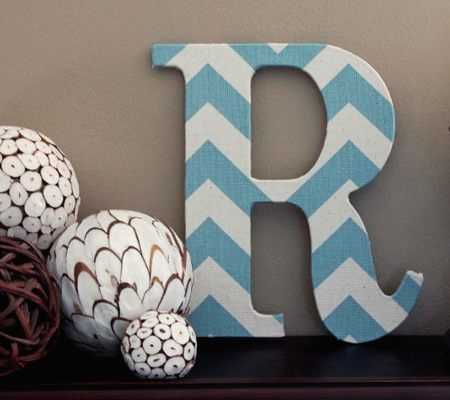 Chevron Letter Wall Decor