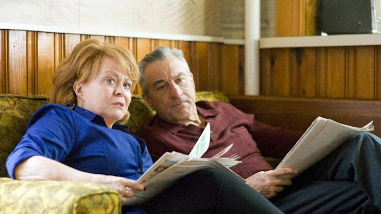 "This film image released by The Weinstein Company shows Jacki Weaver, left, and Robert De Niro in ""Silver Linings Playbook."" (AP Photo/The Weinstein Company, JoJo Whilden)"
