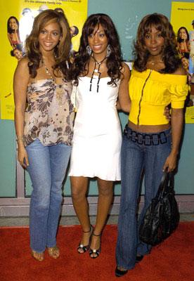 Beyonce Knowles , Solange Knowles and Kelly Rowland at the L.A. premiere of Fox Searchlight's Johnson Family Vacation