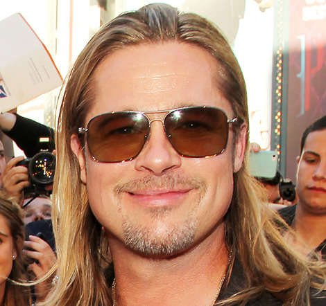 Happy 50th Birthday Brad Pitt! Copyright [Rex]