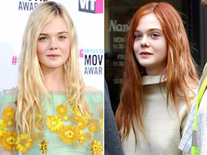 PIC: Elle Fanning Dyes Her Hair Red!