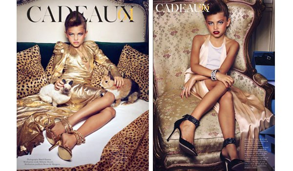 The images that have upset parents and Mother's Union organisation. Photo: Sharif Hamza for French Vogue.
