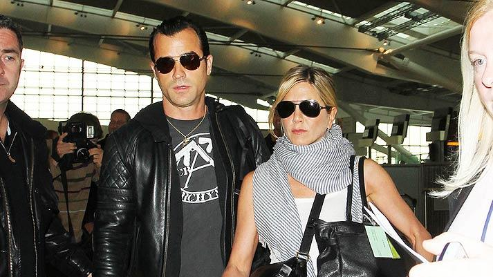 Theroux Aniston Heathrow