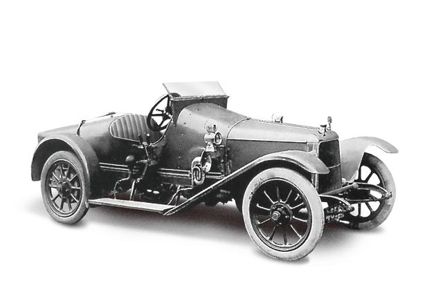 Coal Scuttle (1915) - The first Aston Martin (Registered on 16th March). It is christened 'Coal Scuttle' and powered by a 1389cc Coventry Climax engine (AMHT)