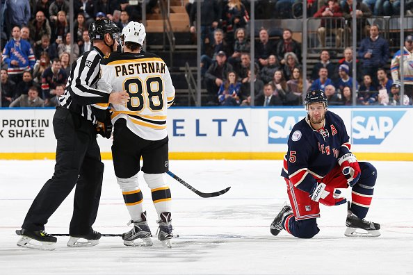 National Hockey League suspends David Pastrnak for 2 games