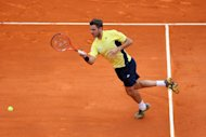 MONTE-CARLO, MONACO - APRIL 16: Stanislas Wawrinka of Switzerland in action against Marin Cilic of Croatia during day four of the ATP Monte Carlo Rolex Masters Tennis at Monte-Carlo Sporting Club on April 16, 2014 in Monte-Carlo, Monaco. (Photo by Julian Finney/Getty Images)