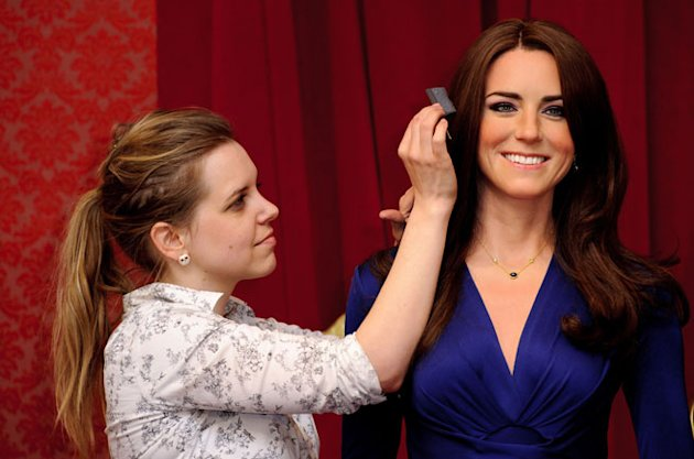 Kate Middleton and Prince William Waxworks Unveiled at Madame Tussauds in London!