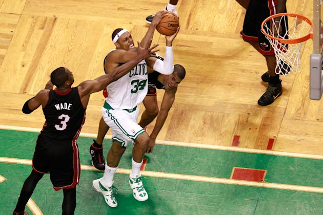 Paul Pierce #34 Of The Boston Celtics Drives Getty Images