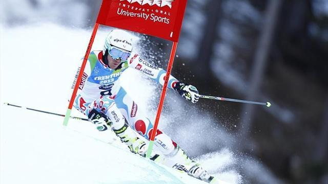 Winter Universiade - Fabre edges Universiade giant slalom