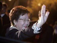 Taiwan's ex-vice president Annette Lu (pictured in 2007) and a former top presidential aide have been cleared of corruption and forgery charges after prosecutors failed to prove the case against them, according to the Taipei district court