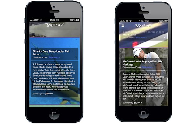 Story Summaries on The New Yahoo! App on iPhone